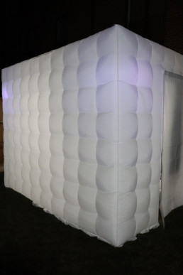 inflatable PixelBot photo booth.