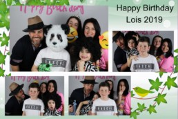 family photo in photo booth